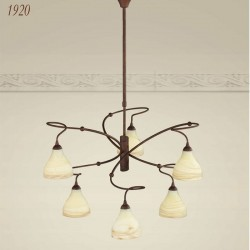Rustikalna viseča svetilka 1920 / 6 - Alpcom svetila