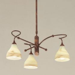 Rustikalna viseča svetilka 1920 / 3 - Alpcom svetila