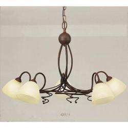 Rustikalna viseča svetilka 4215 / 5 - Alpcom svetila