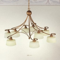 Rustikalna viseča svetilka 4220 / 6+3 - Alpcom svetila