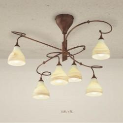 Rustikalna stropna svetilka 1920 / 6PL - Alpcom svetila