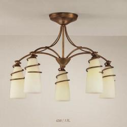 Rustikalna stropna svetilka 4260 / 5PL - Alpcom svetila