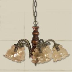 Rustikalna viseča svetilka 067 / 5 - Viseča svetila Alpcom
