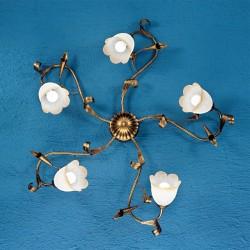 Rustikalna stropna svetilka Serena / PL5 - Stropna svetila Alpcom