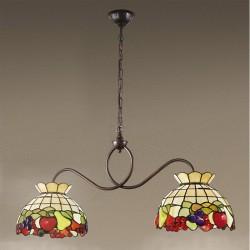 Viseča svetilka Tiffany B608 + 2xT924 - Viseča svetila Alpcom