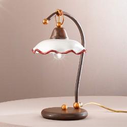 Rustikalna namizna svetilka Chiara / L - Namizna svetila Alpcom
