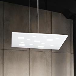 LED viseča svetilka Squared 6391 - Viseča svetila Alpcom