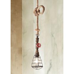 Rustikalna viseča svetilka 6588 - Viseča svetila Alpcom