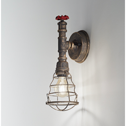 Rustikalna zidna svetilka 6590 - Zidna svetila Alpcom
