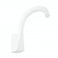LED zidna svetilka Snake W3 Switch WH - LED svetila Alpcom