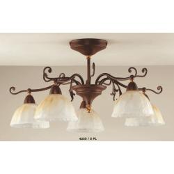 Rustikalna stropna svetilka 4255 / 5PL - Rustikalna svetila Alpcom