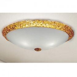 Rustikalna plafonjera 3520 / PL40 zlata - Alpcom svetila