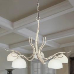Rustikalna viseča svetilka 4240 / 5 bela - Alpcom svetila