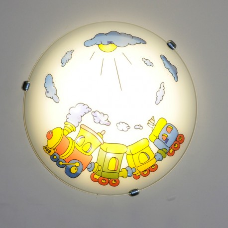 Otroška Plafonjera Vlakec 052 M - Otroška svetila Alpcom